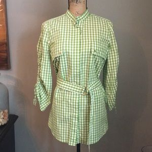 Tory Burch gingham top/tunic size 6